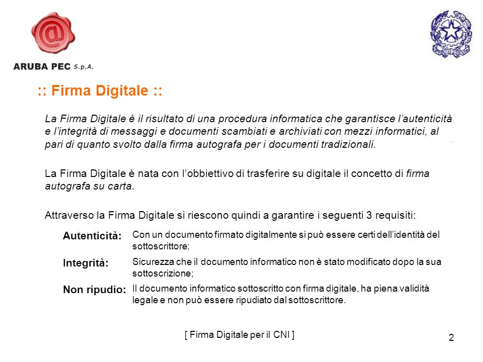 [ Firma Digitale per il CNI ]